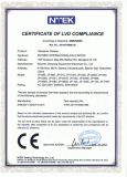 CE-LVD for stainless steel ultrasonic cleaner models