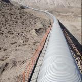 Long Distance plane bend belt conveyor