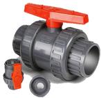 "PVC Double Union Ball Valve DIN ANSI JIS BS Standard DN15 ( 1/2"" )-DN100 ( 4"" )"
