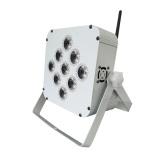 9pcs 15W led RGBWA UV Wireless flat par light