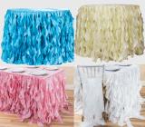 ruffled organza table cloth skirts