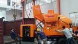 DAWIN DJBT30 diesel concrete mixing pump shipping to Manila Philippines in Oct. 2015