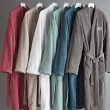 Multi-color terry bathrobe