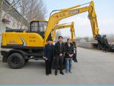 Wheel excavators with graspping for catching wood/sugarcane/straw/stone
