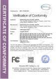 FCC Certificate of Wash Light