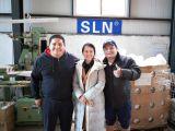 Customer visiting sln factory