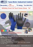 18 gauge nylon shell super fit PU glove touch screen use