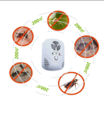 Ultrasonic Electronic Magnetic Indoor Pest Control, Rodent and Insects Control Repellent, White Pest
