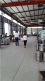 Client visiting kangmai hose crimping machine facotry