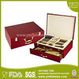 72pcs Stainless steel Flatware Set in a Wooden Box