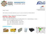 Indobuildtech from 25th to 29th May. 2016