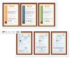 ISO9001, ISO14001,GB/T28001, CE,GS,EUI,EUII,