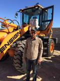 Middle East Customer with ENSIGN wheel Loader