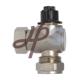 Brass Angle Ball Valve with Plastic Handle