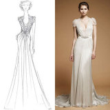 Customized Bridal Ball Gown Strapless Tulle Wedding Dresses Gowns
