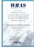 WRAS Certificate for Butterfly Valve