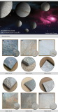 Moon stone tile