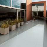 light grey polished tile