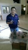 King Machine Engineer and customer in Senegal