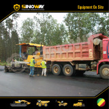 Sinoway Dump Truck and Asphalt Paver Working in West Africa