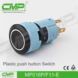 16mm Plastic latching or momentary push button switch