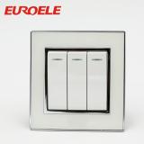 Arcylic white 3 gang wall switch