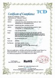 CE-ROHS CERTIFICATE FOR LED LIGHTING FIXTURE