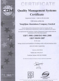 ISO9001 for aluminum window and door/curtain wall