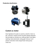 Production classification--Custom ac motor