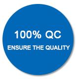 100% QC Ensure The Quality