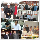 steel structure building project customer visiting