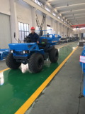 Palm oil tractor is operating in factory
