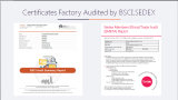 Certificates Factory Audited by BSCI,SEDEX