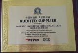 AUDITED SUPPLIER CERTIFICATE-SGS