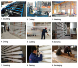 Production process of aluminum baffle ceiling