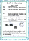 RoHS certificate for LED power supply