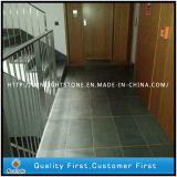 Grey Basalt Honed Surface Tiles and Steps