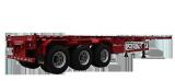 3 axle Container Trailer, Flatbed Semi Trailer