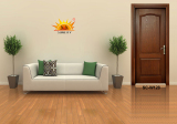 Natural Eco-friendly Interior Wooden Door