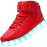 red sport glow sneakers light up shoes