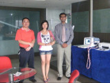 Our agent visit our factory.