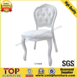 New metal classy white imitate wood hotel chair