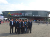 our team in PTC fair shanghai