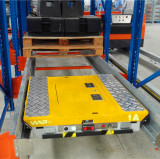 automatic pallet shuttle used for compact storage