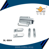 Aluminum hinge and door lock