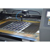 The laser cut machine