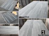 Wood blue marble
