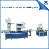 Automatic concial pail tin can making machine