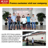 France customer visit our company