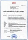 Rohs Declaration of LED High Bay Light (50W 100W 150W 200W 250W)